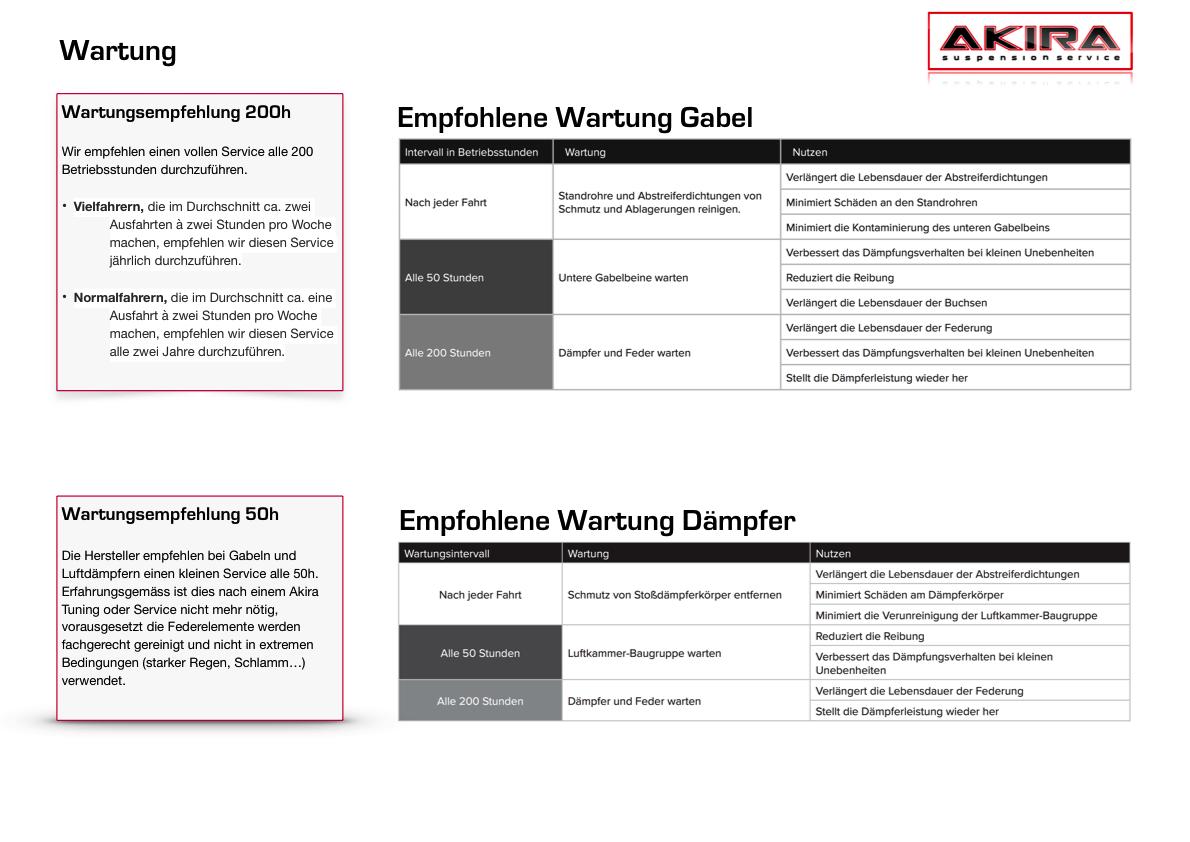 High-Performance Suspension Service für MTB Gabeln und Dämpfer
